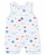 Kissy Kissy Baby Boys Under the Sea Print Sleeveless Playsuit Romper - Blue