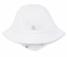 Kissy Kissy Baby Boys White Premier Sail Away - Blue Sailboat Sun Hat