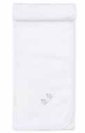 Kissy Kissy Baby Boys White Premier Sail Away - Blue Sailboats Blanket