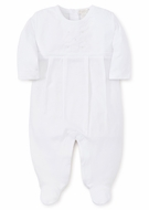 Kissy Kissy Baby Boys White Special Occasion Collection Embroidered Footie