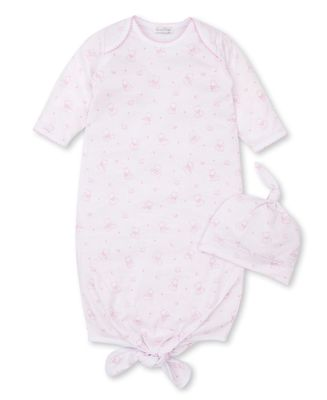 Kissy Kissy Baby Girls Bearly Believable Teddy Bear Sack Gown & Hat - Pink