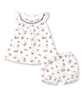 Kissy Kissy Baby Girls Blue Blossoms Floral Bloomers Set