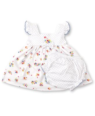 Kissy Kissy Baby Girls Blue Blossoms Floral Dress Set