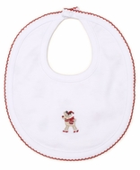 Kissy Kissy Baby Girls / Boys White Holidaze Christmas Print Reversible Bib
