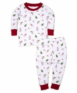 Kissy Kissy Girls / Boys White / Red Holidaze Christmas Pajamas - Print