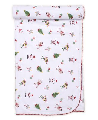 Kissy Kissy Baby Girls / Boys White / Red Holidaze Christmas Print Blanket