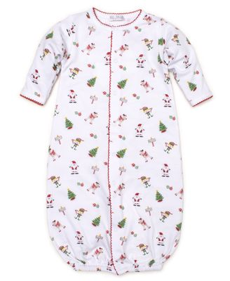 Kissy Kissy Baby Girls / Boys White / Red Holidaze Christmas Print Converter Gown
