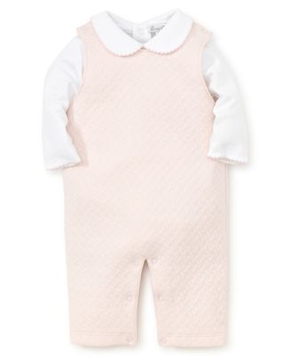 Kissy Kissy Baby Girls Classic Jacquard Overall with Shirt - Pink