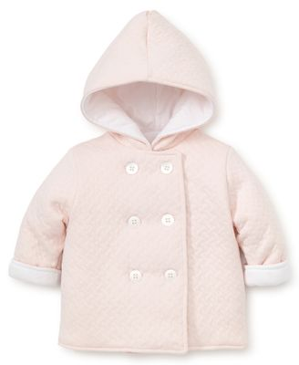 Kissy Kissy Baby Girls Classic Jacquard Padded Jacket with Hood - Pink