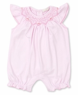 Kissy Kissy Baby Girls Classic Pink Smocked Playsuit Bubble