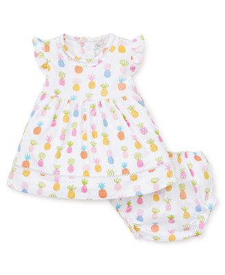 Kissy Kissy Baby Girls Colorful Pineapples Dress with Bloomers
