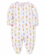 Kissy Kissy Baby Girls Colorful Pineapples Print Footie