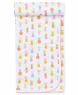 Kissy Kissy Baby Girls Colorful Pineapples Receiving Blanket