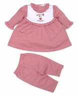 Kissy Kissy Baby Girls First Christmas Red Striped Dress Set