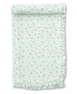 Kissy Kissy Baby Girls Floral Blanket - Mint Green
