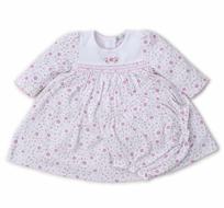 Kissy Kissy Baby Girls Garden Treasure Pink Floral Smocked Dress Set