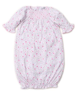 Kissy Kissy Baby Girls Garden Treasure Pink Floral Smocked Sack Gown