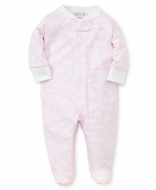 Kissy Kissy Baby Girls Giraffe Print Footie with Zipper - Pink