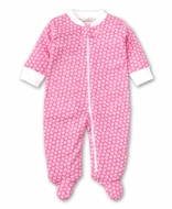 Kissy Kissy Baby Girls Hot Pink Ditsy Floral Zip Footie