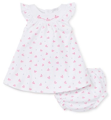 Kissy Kissy Baby Girls Hot Pink Fuchsia Whales Dress with Bloomers