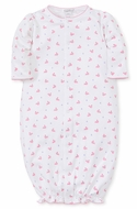 Kissy Kissy Baby Girls Hot Pink Fuchsia Whales Print Converter Gown