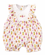 Kissy Kissy Baby Girls Hot Pink Prismatic Pineapples Short Playsuit Romper