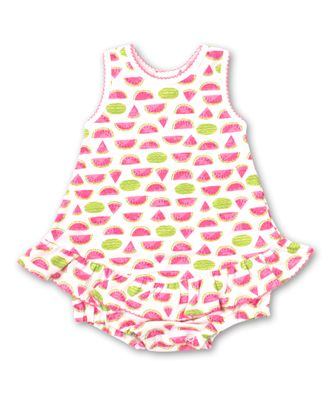 Kissy Kissy Baby Girls Hot Pink Whimsical Watermelons Bubble