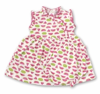 Kissy Kissy Baby Girls Hot Pink Whimsical Watermelons Dress Set