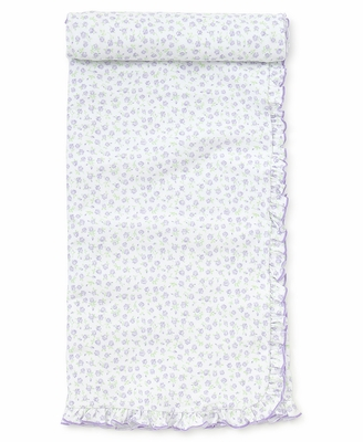 Kissy Kissy Baby Girls Lavender Lilac Rambling Roses Print Receiving Blanket