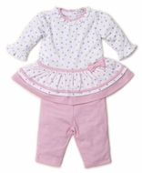 Kissy Kissy Baby Girls Pink Dapple Dots Dress Set