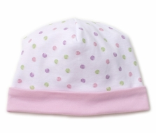 Kissy Kissy Baby Girls Pink Dapple Dots Hat
