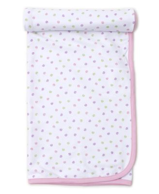 Kissy Kissy Baby Girls Pink Dapple Dots Receiving Blanket