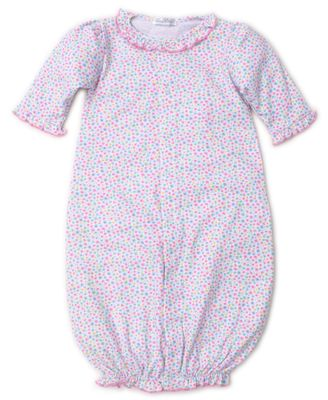 Kissy Kissy Baby Girls Pink Ditsy Floral Print Converter Gown