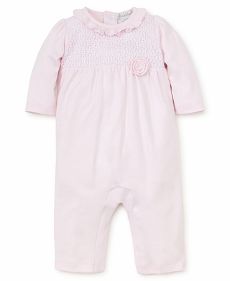 Kissy Kissy Baby Girls Pink Enchantment Smocked Romper