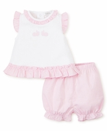 Kissy Kissy Baby Girls Pink Gingham Pique Bunny Hop Bloomers Set
