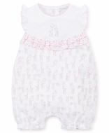Kissy Kissy Baby Girls Pink Giraffes Print Bubble Playsuit