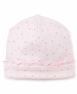 Kissy Kissy Baby Girls Pink Hearts Print Ruffle Hat