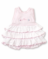 Kissy Kissy Baby Girls Pink Fish Crossback Bubble with Ruffles