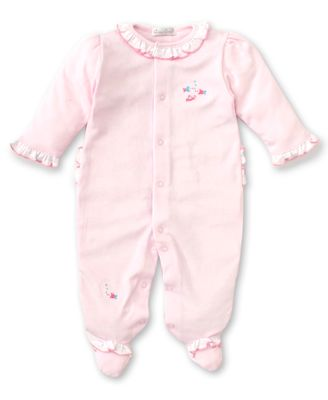 Kissy Kissy Baby Girls Pink Fish Ruffle Footie