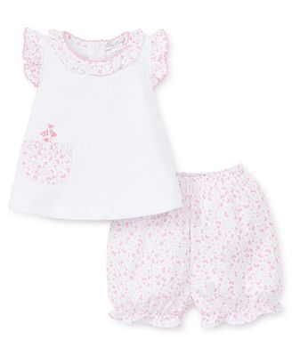 Kissy Kissy Baby Girls Pink Mini Blooms Bloomers Set with Pocket