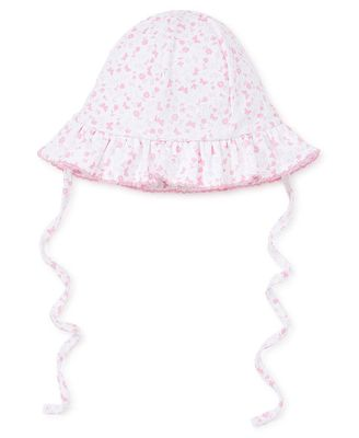 Kissy Kissy Baby Girls Pink Mini Blooms Floppy Hat with Ties