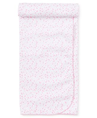 Kissy Kissy Baby Girls Pink Mini Blooms Receiving Blanket