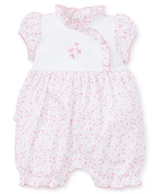 Kissy Kissy Baby Girls Pink Mini Blooms Ruffle Back Bubble