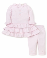 Kissy Kissy Baby Girls Pink Premier Ballet Ruffle Dress Set