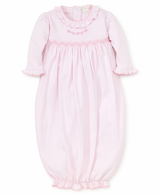Kissy Kissy Baby Girls Pink Premier Rosebud Ribbons Embroidered Sack Gown