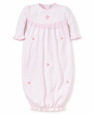 Kissy Kissy Baby Girls Pink Prima Ballerina Embroidered Gown with Tulle Trim