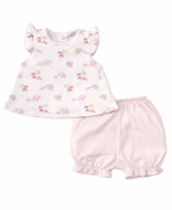 Kissy Kissy Baby Girls Pink Safari Siblings Sunsuit Bloomer Set