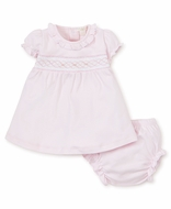 Kissy Kissy Baby Girls Pink Smocked Rosebuds Dress with Bloomers