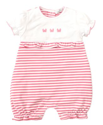 Kissy Kissy Baby Girls Pink Stripe Crab Craze Playsuit Romper