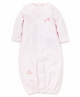 Kissy Kissy Baby Girls Pink Striped Elephants / Giraffes Converter Gown